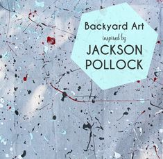 Backyard Art Camp Backyard Art Camp - how to create a Jackson Pollock inspired canvas Projects For Kids, Art Projects, Crafts For Kids, Kindergarden Art, Jackson Pollock Art, Inspiration For Kids, Preschool Art, Teaching Art, Elementary Art