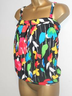 Black Aztec Lace up Crop top Bikini Separates BNWT Matalan  Holiday AB