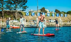 Oceanside Paddleboard - Downtown Oceanside: Standup-Paddleboard Lesson and Rental for Two or Four at Oceanside Paddleboard (Up to 56% Off)