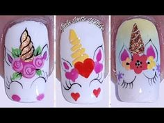 Nail Art Designs Videos, Nail Art Videos, Nail Designs, Little Girl Toys, Toys For Girls, Makeup Kit For Kids, Unicorn Nails Designs, Kids Salon, Aesthetic Makeup