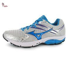 Mizuno Wave Valiant Chaussures de course à pied pour femme SILV/bleu Baskets Sneakers Chaussures de sports, Silver/Blue - Chaussures mizuno (*Partner-Link)