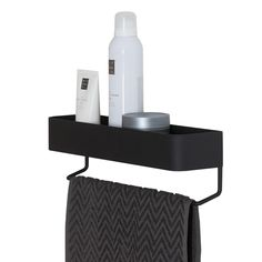 DescriptionThis Sealskin Brix integrated wall tray and towel rail crafted in metal with black finish lends itself to a wide variety of us