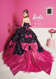 Barbie style, wonderful (back view) ~ Beautiful Unique Ball Gowns, couture, wedding, bridal, bride, dress, fantasy, flowers, flower, floral, flora, fairytale, fashion, designer, beautiful, stunning, prom dress, ball gown, Cinderella, Princess, satin, lace, velvet, bodice, vintage, Marie Antoinette, fashion, dress, dresses, elegant, sweetheart, corset,