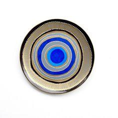 Blue Evil Eye Decor - Decorative Plate - Blue Mandala Decor - Blue Wall Decor - Plate Decor - Plate Art - Wall Art - Wall Decor - Evil Eye
