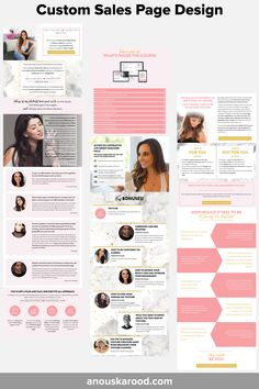 Custom Sales Page Design by Anouska Rood - for Erika Vieira's YouTube Bootcamp Feeling Overwhelmed, Page Design, Erika, Engagement, Feelings, Youtube, Scallops, Engagements, Youtubers