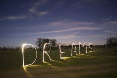 Dreams lighting the way