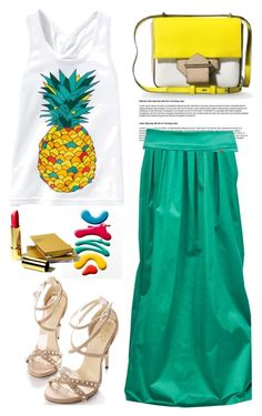 """Pineapple :)"" by lidia-solymosi ❤ liked on Polyvore"