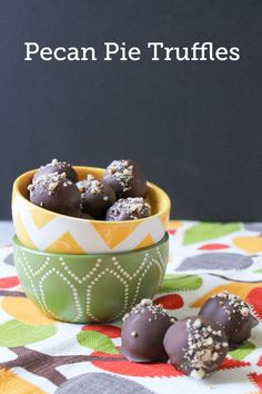 Dip Pecan Pie Filling made with Diamond Pecans in Chocolate to create these adorable and tasty truffles