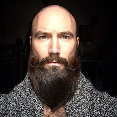 Looking to combine bald with beard styles? This gives you a lot of bald with beard styles to choose from. Bald Men With Beards, Bald With Beard, Bald Man, Great Beards, Mustache Growth, Beard And Mustache Styles, Beard No Mustache, Handlebar Mustache, Viking Beard Styles