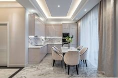 Trendy kitchen photo in Moscow with marble floor with gray veinings and flat-panel beige cabinets. Marble Tiles, Marble Floor, Beige Cabinets, Kitchen Photos, Online Furniture, Corner Bathtub, Kitchen Design, Flooring, Grey