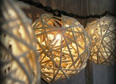 9 Ways to Transform String Lights from Holiday to Every Day.... Christmas String Lights and Rattan balls