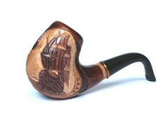 Hand Carved Wood Tobacco Smoking Pipe