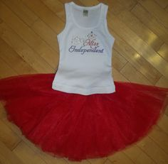 Little Miss Independent Rhinestone Tank & Tutu by blingcouture21, $38.00