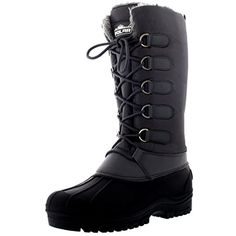 Womens Muck Lace Up Rain Nylon Durable Winter Snow Duck Mid Calf Boots ** For more information, visit image link. (This is an affiliate link) #Outdoor