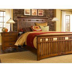 quartered oak bedroom