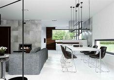 Projekt domu HomeKoncept-31 142,19 m2 - koszt budowy - EXTRADOM Villa Design, House Design, Modern Family House, House Plans Mansion, Custom Built Homes, Planer, How To Plan, Mansions, Dining
