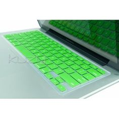Want this! Amazoncom Kuzy - GREEN Keyboard Silicone Cover Skin for Macbook  Macbook Pro 13 15 17 Aluminum Unibody Computers amp Accessories