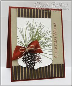 I love Stampin' Up!'s Ornamental Pine stamp set...really, really easy to make nice cards with it! This card was made up from scraps on my desk (do they ever go completely away?), I never seem to m...