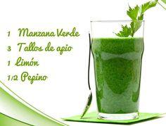 Jugo verde súper saludable y lleno de energía