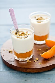 Apricots & Honey Panna Cotta | The perfect balance of sweet & sour make for a luscious dessert.