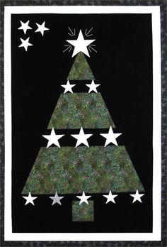 Glowing Stars Quilt Pattern AV-101 (wall hanging, beginner, Christmas, Glow)