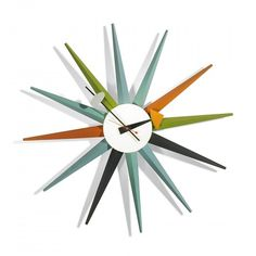 """Spike"" Model 2202 Wall Clock, Howard Miller Clock Company, Designed by Irving Harper, 1952"