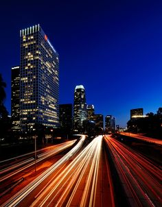 Twilight at Downtown Los Angeles, CA