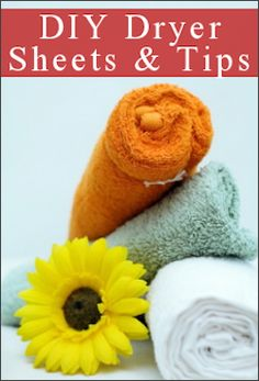 Fabric Softener Recipes & Reusable Dryer Sheets