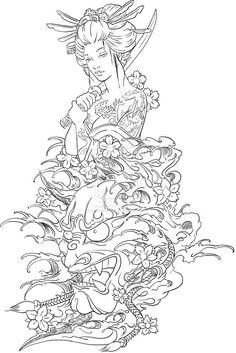 geisha tattoo - Google Search