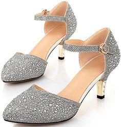 Littleboutique Vintage Mid-heel Metallic D¡¯Osay Pumps Bridesmaid Shoes Evening Dress Heels Wedding Shoes silver 9