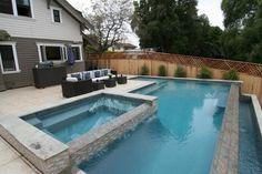 diseño piscina con tres niveles