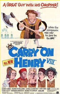 Carry On Henry (1971) GB Rank / AIP Sidney James, Barbara Windsor, Joan Sims, Terry Scott, Kenneth Williams, Bernard Bresslaw, Charles Hawtrey, Kenneth Connor. 26/05/03