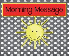 FREE morning message printable