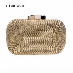 2016 sacos novos mulheres mensageiro marca de moda carteira saco de tecido requintado noiva noite saco de tricô de luxo saco de mão de embreagem do vintage em Bolsas para noite de Bagagem & Bags no AliExpress.com | Alibaba Group