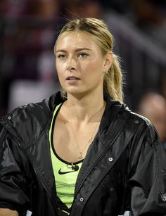 Maria Sharapova Photos Photos - Tennis player Maria Sharapova stands on the court during the World TeamTennis Smash Hits charity tennis event benefiting the Elton John AIDS Foundation at Caesars Palace on October 10, 2016 in Las Vegas, Nevada. - Sir Elton John and Billie Jean King Host the World TeamTennis Smash Hits Charity Event