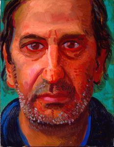 "Arthur Lambert, February 1997 from ""Portrait Wall"", 1997 Oil on canvas 13 x 10 The David Hockney Foundation David Hockney Portraits, David Hockney Paintings, David Hockney Artist, Pop Art Movement, Portrait Wall, Contemporary Artists, New Art, Painting & Drawing, Friendship"