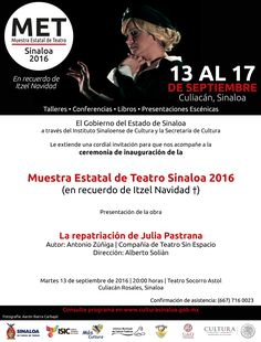 Ceremonia de Inauguración de la Muestra Estatal de Teatro (MET) Sinaloa 2016…
