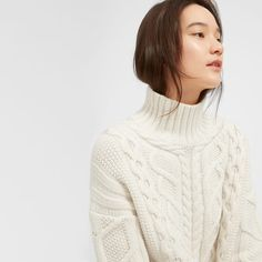 4804f8fb1a A more modern cable knit sweater. Ours is made of wool and has dropped  shoulders