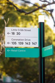 Milton Green wayfinding and signage Environmental Graphic Design, Environmental Graphics, Sign Fonts, Navigation Design, Wayfinding Signs, Exterior Signage, Directional Signs, Exhibition Display, Display Design