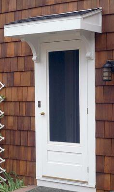 Ideas For Front Door Overhang Diy Porch Over Front Door, Front Door Overhang, Front Door Awning, Front Door Canopy, Porch Awning, Diy Awning, Best Front Doors, Porch Roof, Back Doors