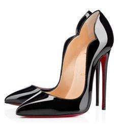 Christian Louboutin Black Patent Hot Chick 37 Classic Heels | Lollipuff