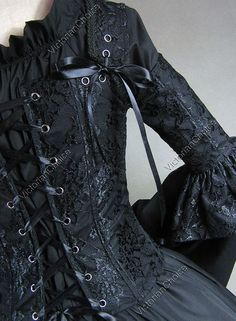 Victorian Gothic Corset Dresses   Details about Victorian Corset Lace Lolita Dress Ball Gown Prom 112 XL