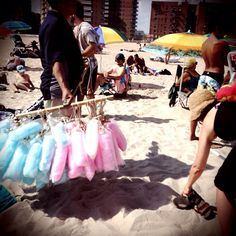 07 July 2013 - Brighton Beach #brighton #beach #brooklyn #nyc #cotton #candy #vendor