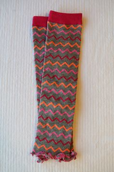 Grey and Pink Multi Colored Chevron Ruffled Baby by thelilredwagon, $5.95