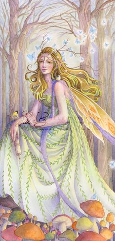 This listing is for an art print of my original watercolor painting, Lady of the Forest. ✬ SIGNED ✬ The reproduction is printed in my studio, by me,