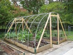 DIY: Hoop House Frame, great way to extend to growing season!