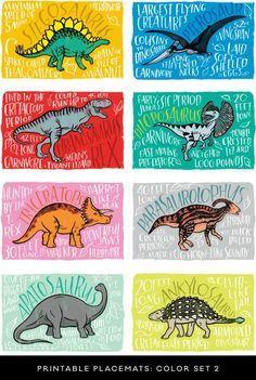Fun Fact Placemats: Dinosaurs