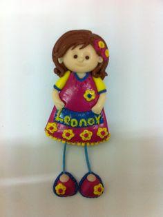 Bonecas do 1069, boneca pregadeira em fimo