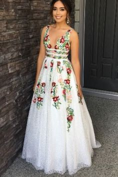 Buy Elegant Ivory V Neck Lace Prom Dresses, Backless Pockets Wedding Dresses with Flowers on sale.Shop prom or formal dresses from Promdress. Find all of the latest styles and brands in Junior's prom and formal dresses at PromDress. Floral Prom Dresses, Wedding Dresses With Flowers, Backless Prom Dresses, Grad Dresses, Flower Dresses, Homecoming Dresses, Dresses For Work, Maxi Dresses, Summer Dresses