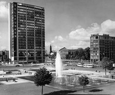 1960 Ernst-Reuter-Platz West Berlin, Berlin Wall, The Second City, East Germany, Cold War, 1960s, Cities, History, Places